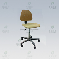 Student Adjustable Stable Wheel Steel Laboratory Stool