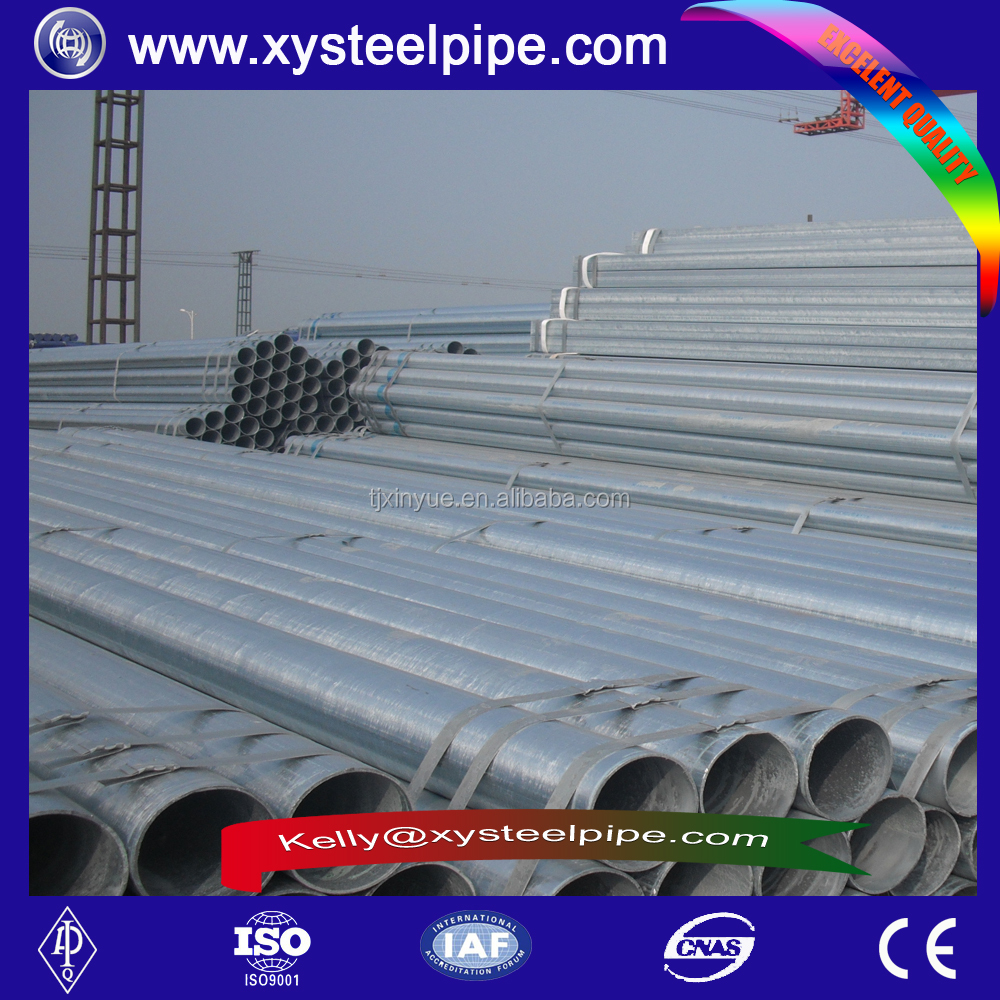 Hot deeped galvanized steel pipe astm a106 gr.b schedule 80 pipe/ steel pipe price per Ton from China Tianjin Manufacture