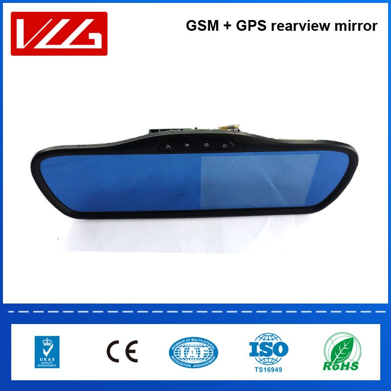 GSM wireless communication car rearview mirror gps tracker