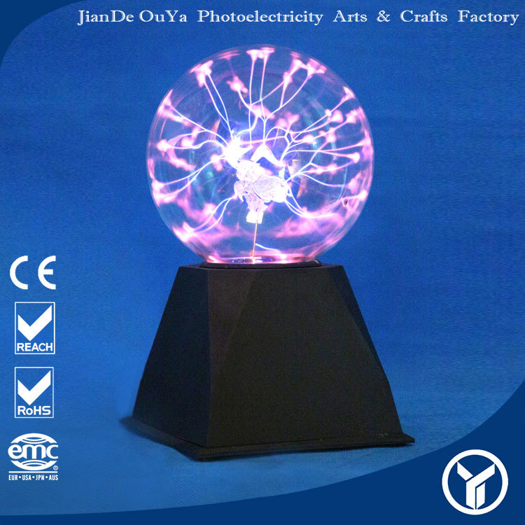 decorating clear plastic christmas iron core design plasma big balls
