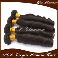 most popular hot selling 8a 7a 6a grade remy double drawn natural color virgin Brazilian spring curl human hair Extension