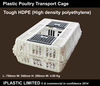 Poultry Transport Cage Hygenic durable HDPE Plastic