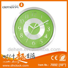 DEHENG metal home decorative wall clock green dial