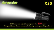 Bronte X30 tactical 2400 lumens 1000 meters long beam 3*CREE XM-L U2 LED flashlight 1387174504961