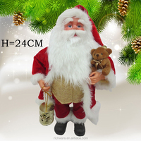Professional Factory Sale!! santa claus carrying a cup and holding a bear chrismas decoration