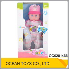 "Hot design 14"" plastic sweet doll models with sound and feeder OC0281466"