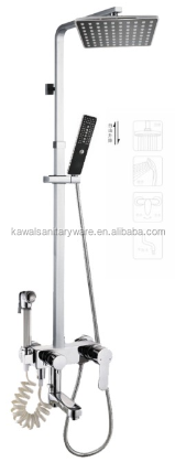 Exposed wall mouted rain bath shower faucet,concealed shower set,bath tub faucets