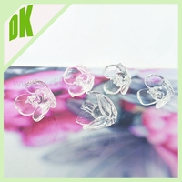 \\\ fun and colorful Tiny Vintage glass flowers // Bubbles of Handmade Decorated decor flower shape glass beads for decorating
