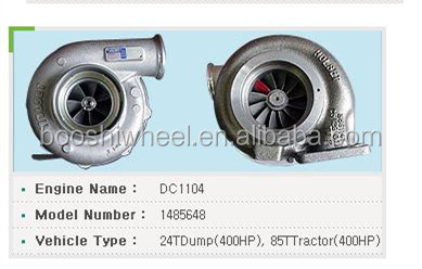 HX50 turbo charger 1485648 Turbocharger for Scania 124 Truck engine DC1104 24TDump 400HP 85TTractor 400HP