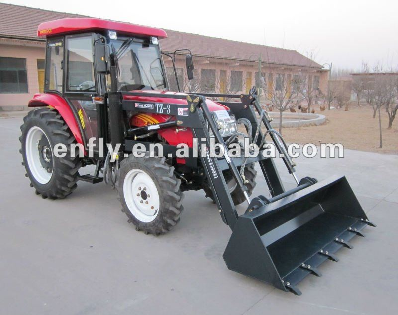 55hp 4WD tractor with front loader, ENFLY DQ554 tractor, 4-wheel tractor, 4x4