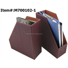 A4 Leather Desktop File Holder