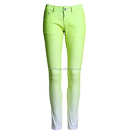 Stock/OEM Service Cheap Brazilian Jeans Different Color Skinny Jeans For Women