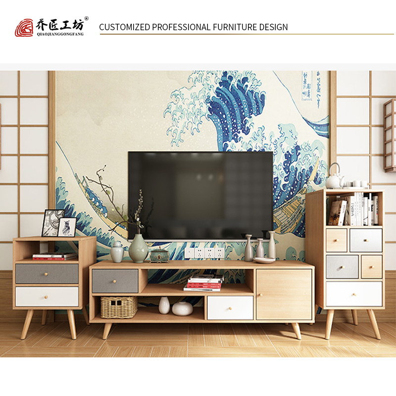 Simple Multi-function Entertainment TV Stand Cabinet Modern Design Living Room TV Furniture