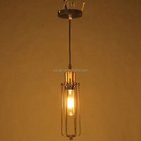Handmade loft long shape imitated oil retro pendant vintga lamp