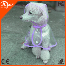 Wholesale Cheap Clear Waterproof Light Pet Dog Raincoat for Bad Weather