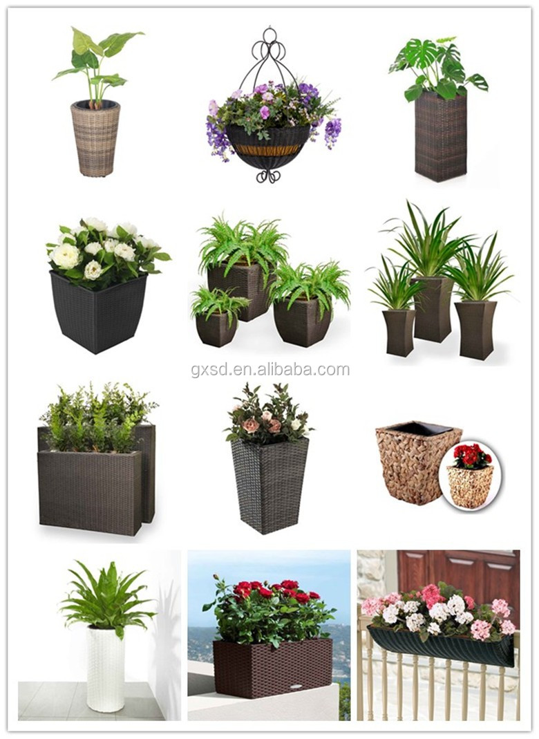 S&D Outdoor garden handmade high quality cheap high plastic plant pots