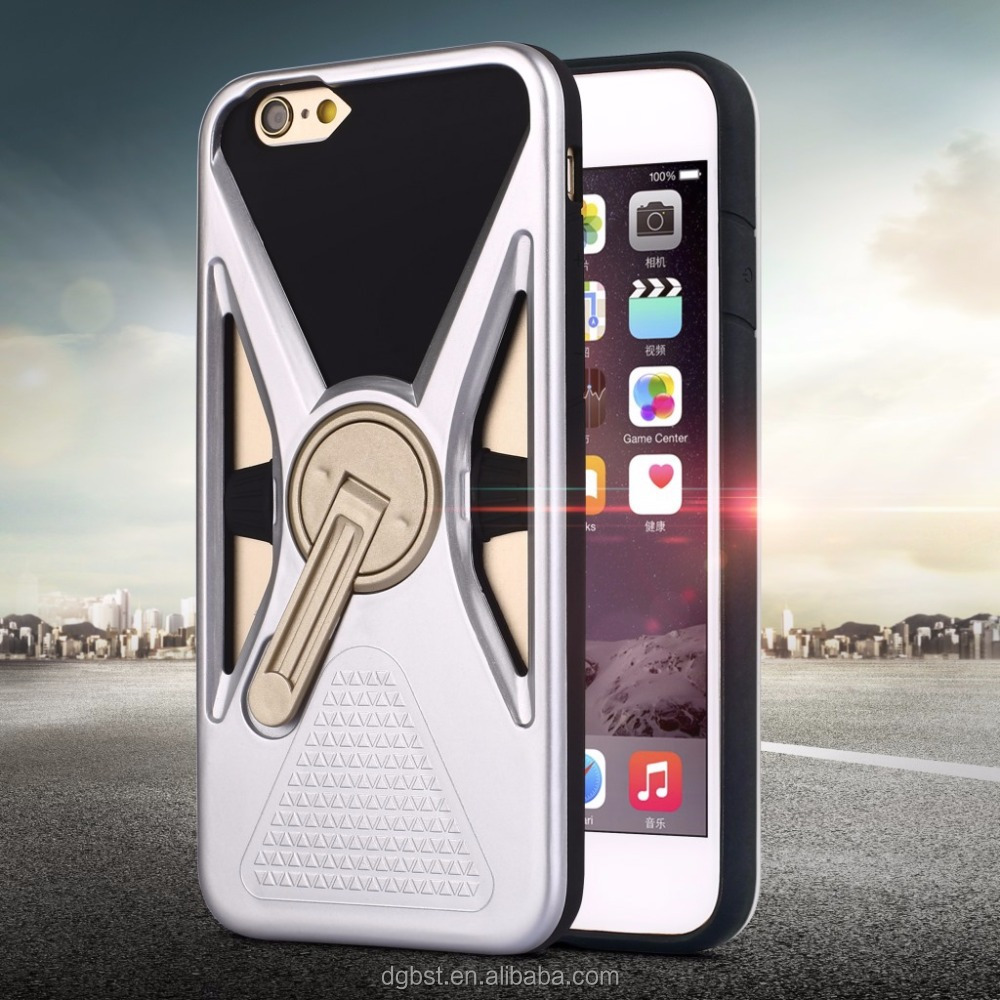 New Arrival Dazzle Stylish Phone Case With 360 Degree Rotating Stand For iphone 6S