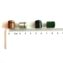 12*15mm Customized different colors bison tube bulk storage geocaching containers magnetic nano container