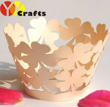 autumn leaves! individual decorative paper customizable laser cut cupcake holders