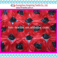flower be made of ribbon stain embroidered brocade fabric