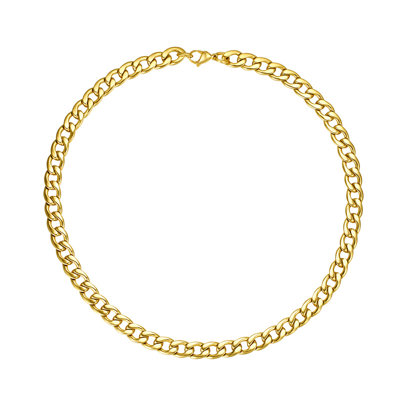 Fashion Pure Gold Necklace Designs Chain Stainless steel Jewelry wholesale 2015