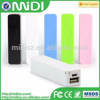 Colorful Portable Micro USB 2600mAh Perfume Portable Charger Power Bank for mobile device