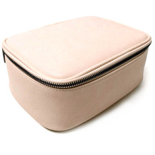 Portable Mini Leather Makeup Train Case For Travel