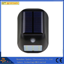 New Outdoor 9 LED/12 LED Solar Wall Lamps Lighting Solar Sconce Light