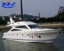 CE Certification and Fiberglass Hull Material 56ft Large Luxury Yachts for Sale