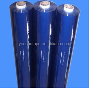 Transparent PVC film electrostatic cling protective film Blue color