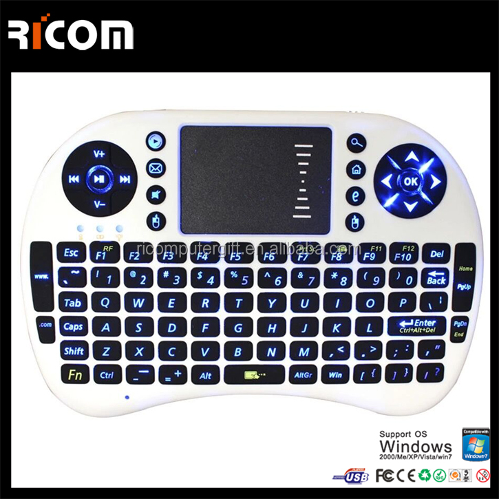 2.4g air mouse for android tv box,Air mouse Keyboard with Touch pad,air mouse remote control--T2--Shenzhen Ricom