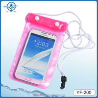 China Customized PVC waterproof mobile cell phone bag for swimming diving rafting camping