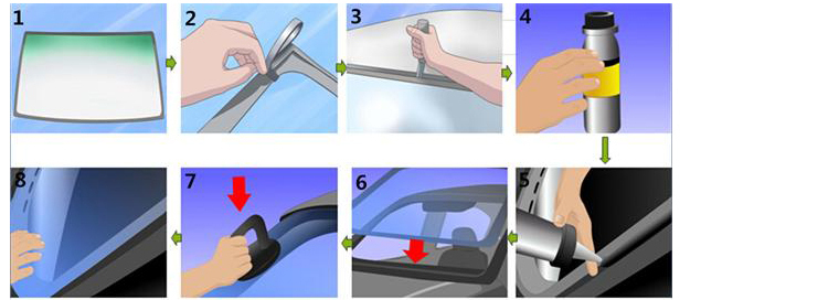 Polyurethane Sealant for Installing Auto Windshield
