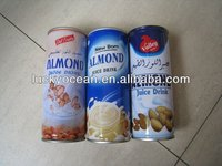 Almond flavor juice drink canned health