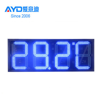 Hidly hot sale new product waterproof time clock display sign