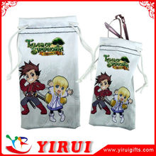 Customized small microfiber drawstring pouches