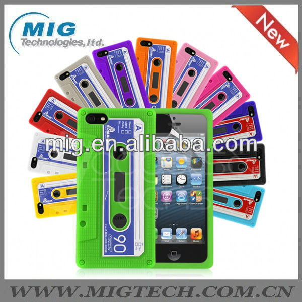 Retro tape silicon phone case for iphone 5S,for iphone 5 case