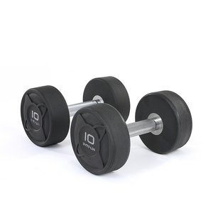 Commercial gym use round rubber dumbbell sets
