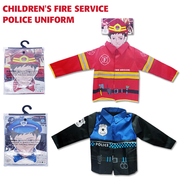 Halloween party cosplay clothes police costume for kids