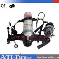 Firefighter respirator compressed air breathing apparatus mask