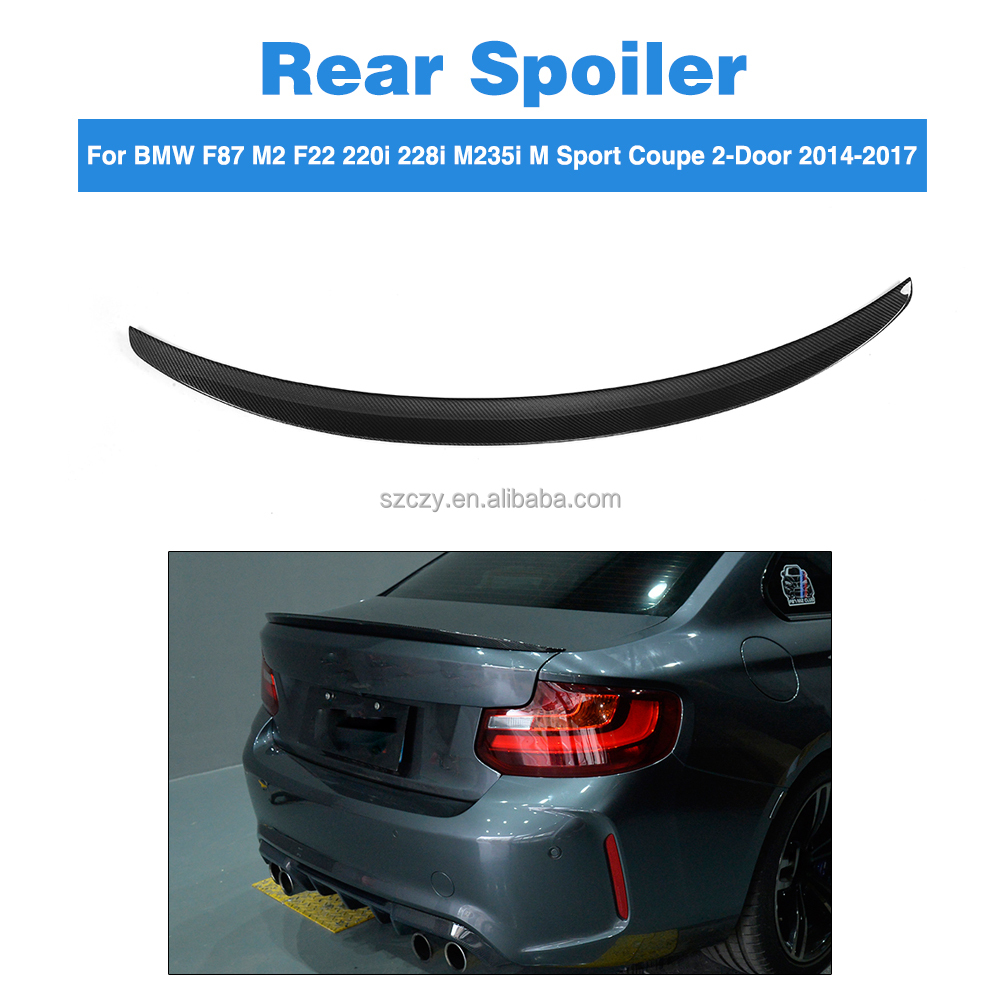 F87 M2 P Style Carbon Car Rear Spoiler for BMW F87 M2 F22 220i 228i M235i Coupe 14-17