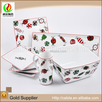 2015 hot new design wholesale cute fruit decal eco-friendly ceramic porcelain dinner set