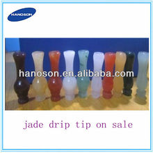 Hot Selling 2013 new product natural jade stone raw jade stone drip tip