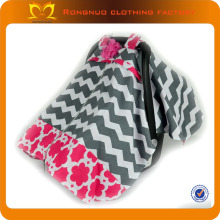 knitted stroller car seat cover 100% cotton chevron flower print pattern many colors for you to choose