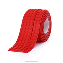 8 Roll Toy Blocks Tape Compatible Building Block Tape Silicone Strips Peel Stick Baseplates Nimuno Loops logos tape