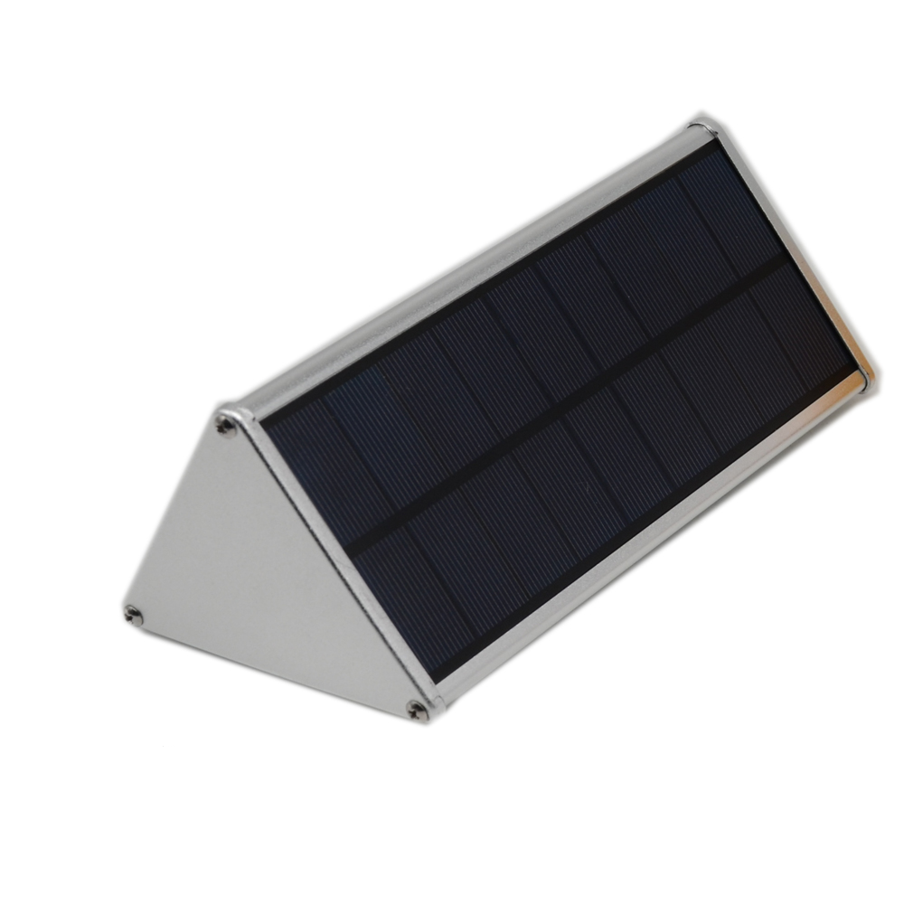 IP65 Outdoor Radar Motion Sensor Solar Wall Light Wireless Waterproof Stainless Aluminum Alloy Housing