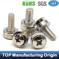Phillips Head SEMS Conical Washer PVC Washer Screw Plastic Washer Screw Carbon Steel Screw Bolt