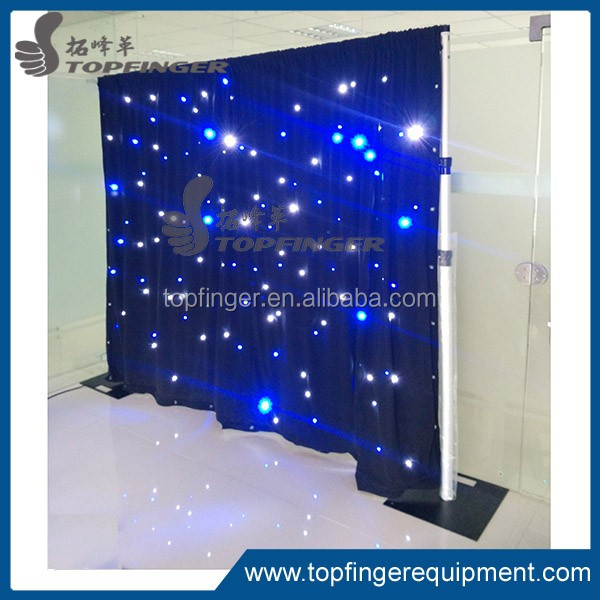 Topfinger outdoor Led dj light curtain display screen video flexible led curtain for stage backdrops