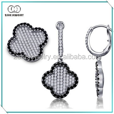 Best Seller flower silver micro pave jewelry