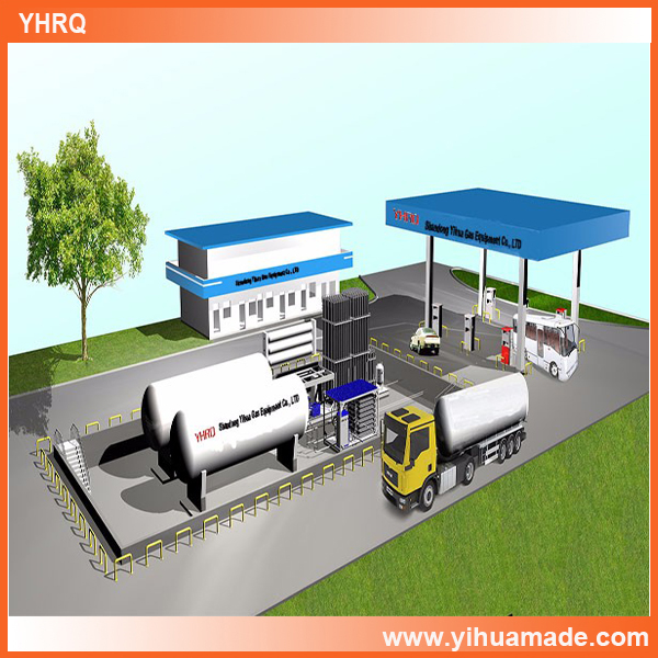 LNG Liquefied Natural Gas filling station